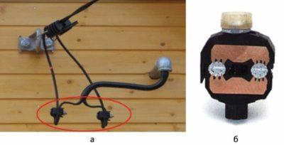 Соединение СИП и медного кабеля