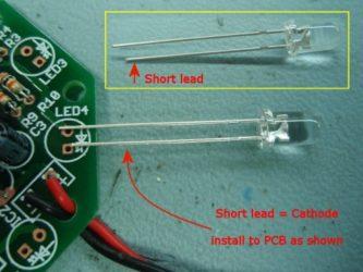 Как припаять светодиод к плате?
