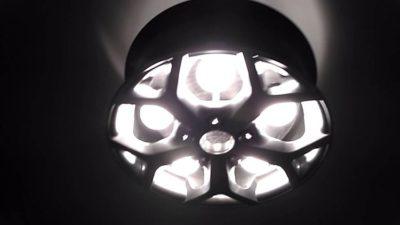 Люстра из автомобильного диска