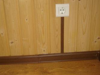 Проводка в плинтусах в деревянном доме
