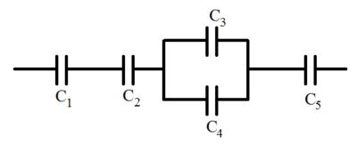 Расчет электрических цепей со смешанным соединением конденсаторов