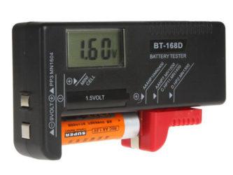 Прибор для измерения заряда батареек