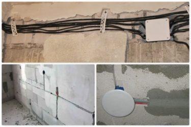Провод для скрытой проводки под штукатурку