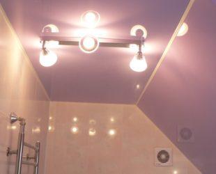Люстра в ванную комнату на натяжной потолок