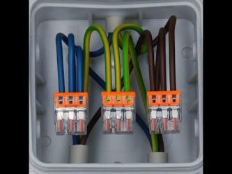 Клеммы для соединения проводов в распределительной коробке