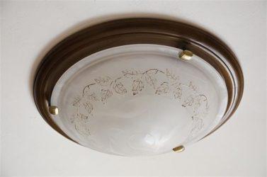 Как снять плафон с круглой люстры тарелки?