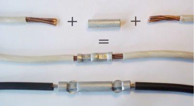 Соединение многожильных проводов опрессовкой
