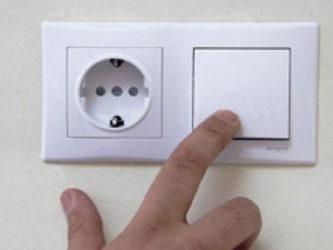 Установка выключателя света с розеткой