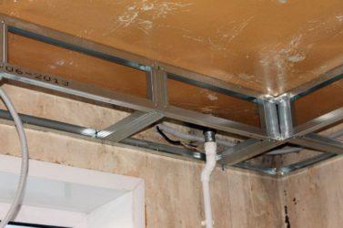 Проводка под потолком из гипсокартона