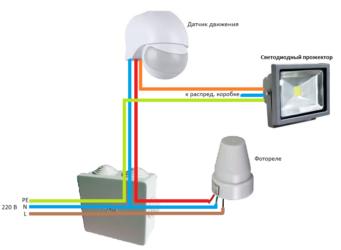 Датчик движения для включения света с фотореле