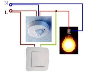 Установка датчика движения для включения света