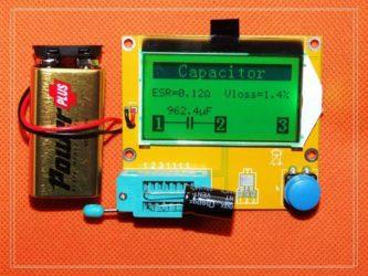 Прибор для тестирования конденсаторов