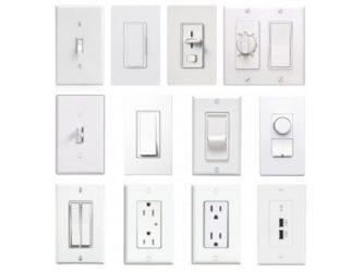 Виды выключателей света в квартире