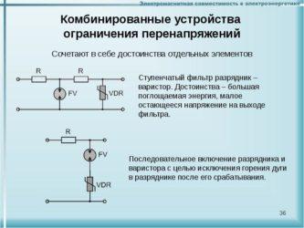 Последовательное соединение варисторов