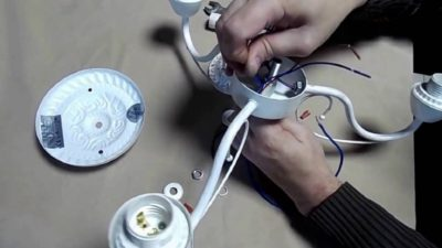 Сборка и установка люстры