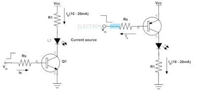 Управление светодиодом через транзистор