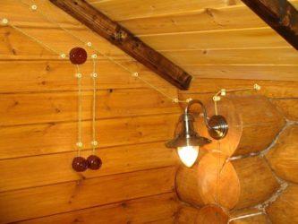 Плетеная проводка в деревянном доме