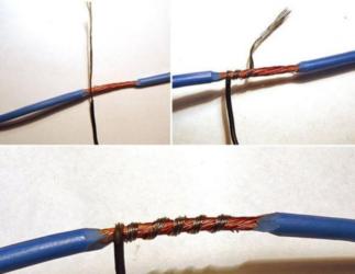 Соединение одножильного и многожильного медного провода
