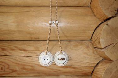 Провод для внешней проводки в деревянном доме